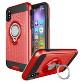 Modes Cases red iPhone X Magnet Ring Stand Case
