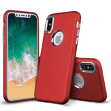 Modes Cases red iPhone X Slim Electroplated Metallic Case