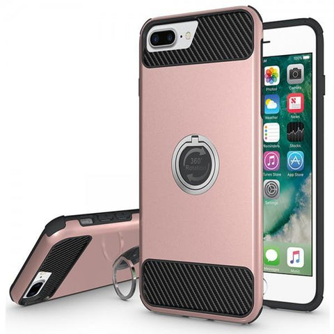 Modes Cases rose iPhone 7 / 8 Plus Shockproof 360° Ring Case