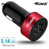 Modes Charger red Mini Dual USB Car Charger