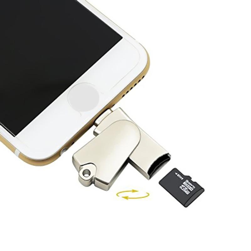 iPhone 2 in 1 MFI Lightning Memory SD Card Reader