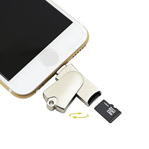 Modes iPhone Accessories iPhone 2 in 1 MFI Lightning Memory SD Card Reader