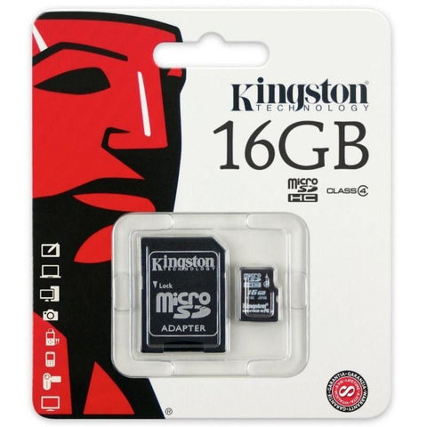 Modes memory card Class 4 Kingston Ultra Micro SD Memory Card 16GB