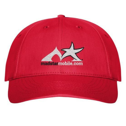 Vistaprint Hats red Twill Cap with Velcro Closure
