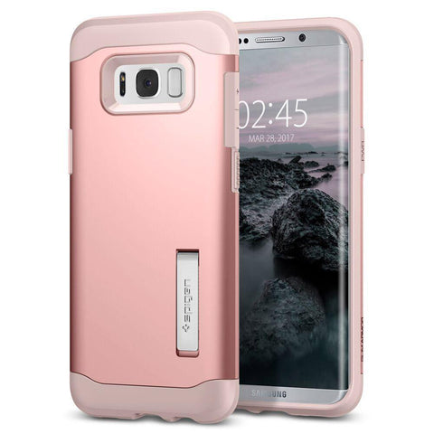 Voicecomm Cell Phone Accessories rose gold Samsung Galaxy S8 Spigen Slim Armor Case