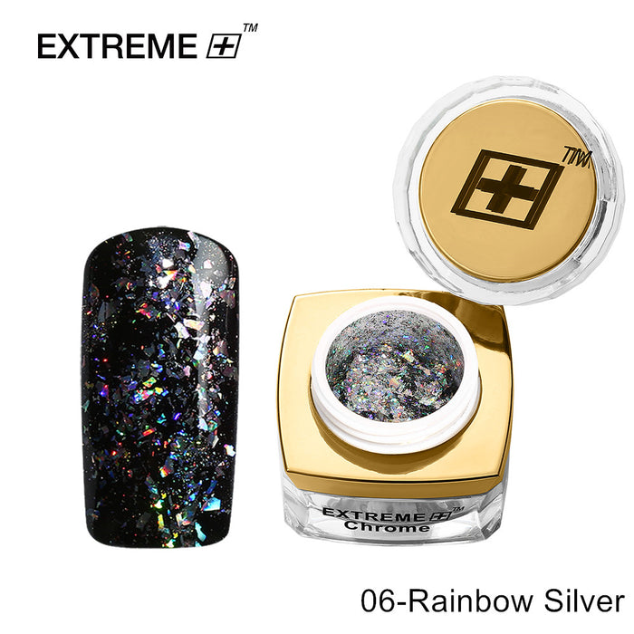 Extreme+ Chrome Powder # 06 Rainbow Silver
