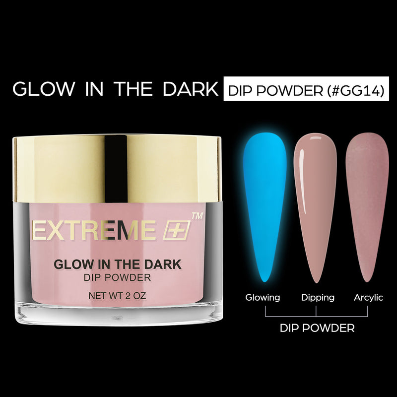 EXTREME+ SUPER Glow In Dark Dip Powder 2 oz -