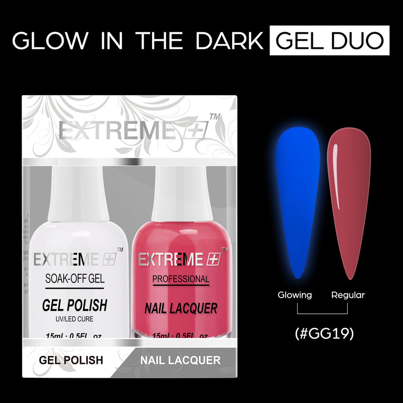 EXTREME+ GLOW IN DARK - GEL + MATCHING LACQUER -