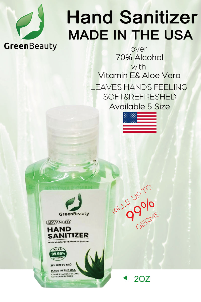 Green Beauty Hand Sanitizer 2 oz - FDA Approved