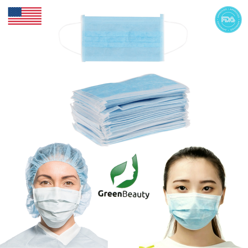 Non-woven Face Mask 50 Pcs/Box - FDA Approves (shipping from USA _ within 3 Business Days)