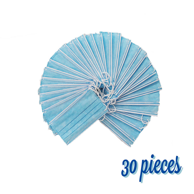 Face Mask Disposable 30 PCS - Blue (SHIPPING FROM USA _ within 3 Business Days )