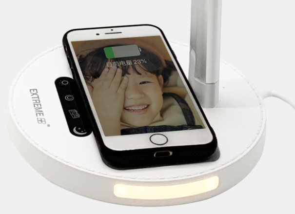 Extreme+ Wireless Charging Lamp - Silver