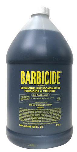 BB Barbicide  Hospital-grade, EPA approved broad-spectrum disinfectant.