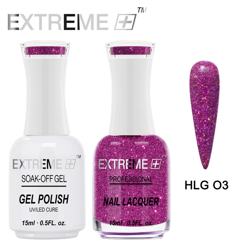 Extreme + Holo Chrome Gel & Lacquer -