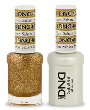 DND - Gel & Lacquer # 401 Golden Sahara Star