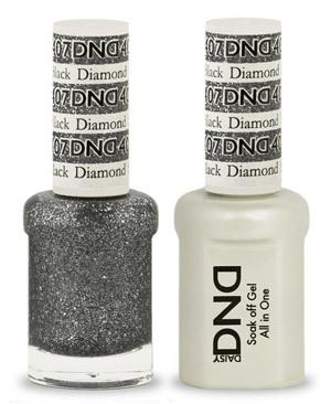 DND - Gel & Lacquer # 407 Black Diamond Star