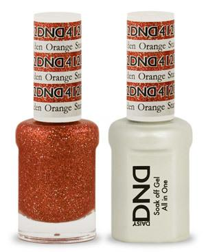 DND - Gel & Lacquer # 412 Golden Orange Star
