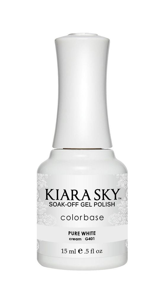 KIARA SKY GEL + MATCHING LACQUER (DUO) - G401 Pure White