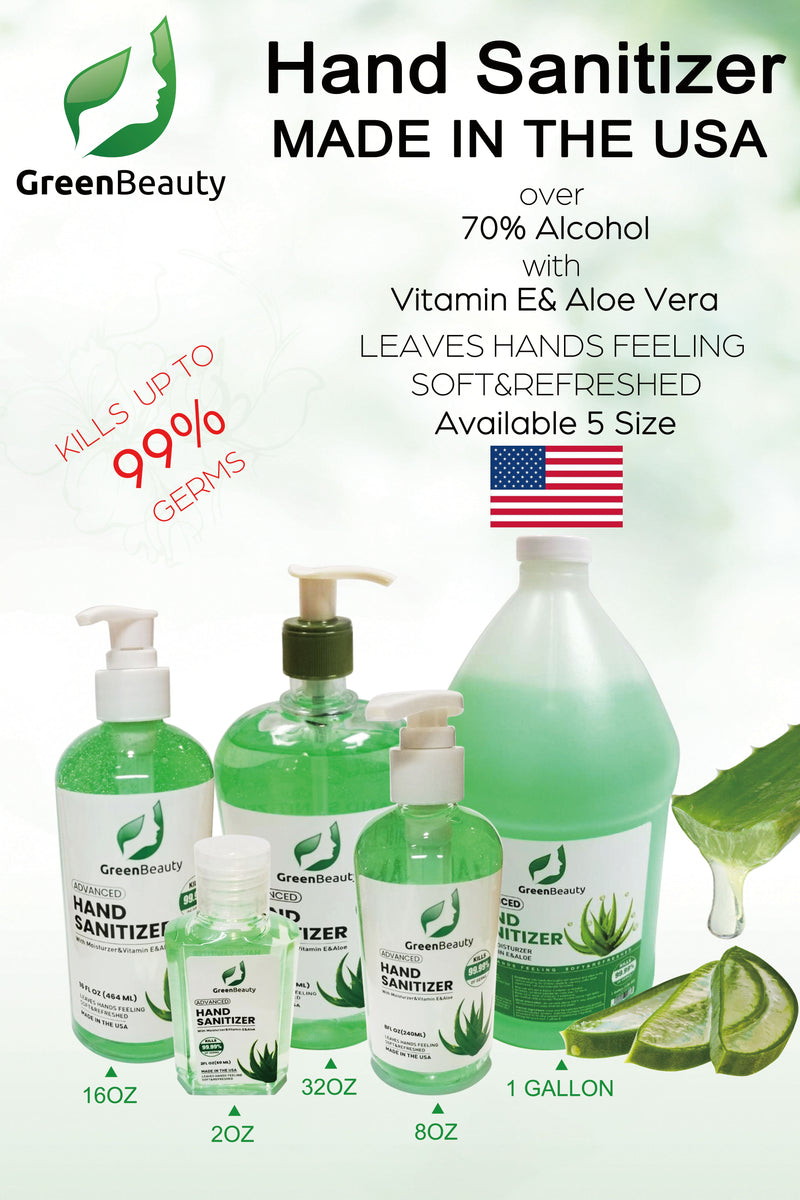 Green Beauty Hand Sanitizer 32 oz - FDA Approved