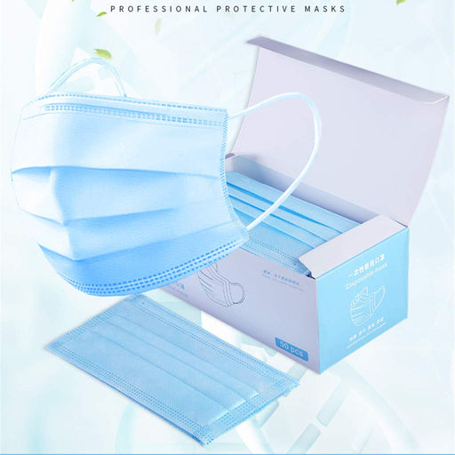 Face Mask 50 PCS/Box - Blue (SHIPPING FROM USA _ within 3 Business Days )