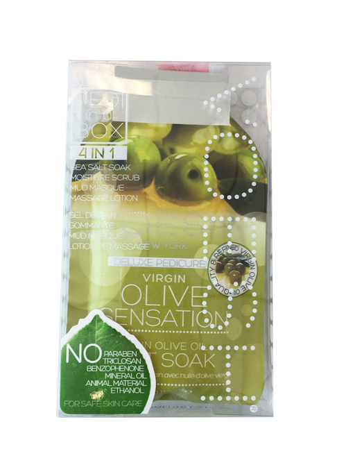 VOESH Deluxe Pedicure 4 Step - Olive Sensation