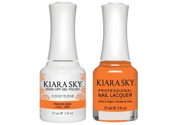 Kiara Sky All-In-One GEL + MATCHING LACQUER (DUO) - 5090 PEACHY KEEN