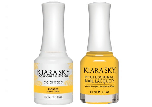Kiara Sky All-In-One GEL + MATCHING LACQUER (DUO) - 5096 BLONDED