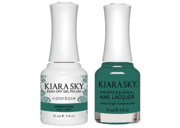 Kiara Sky All-In-One GEL + MATCHING LACQUER (DUO) - 5099 SUMMER FLING