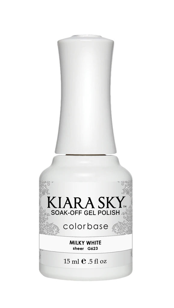 KIARA SKY GEL + MATCHING LACQUER (DUO) - G623 Milky White