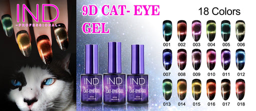 IND 9D CAT EYE Gel - Whole set 18 Colors ***Special Sale*** $153 ( Free Color Chart)