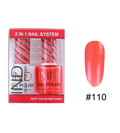 IND Nail Polish Gel & Matching Lacquer Set -