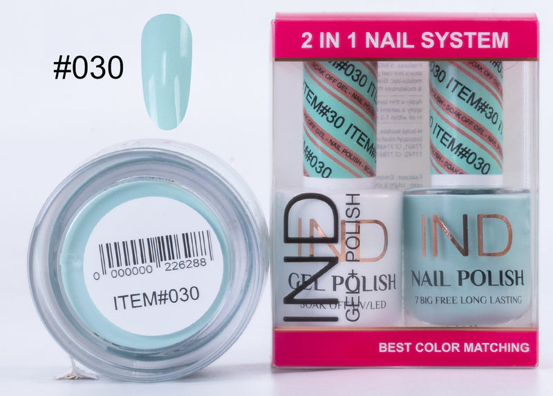 IND 3 IN 1 Combo Gel +Lacquer+dipping powder -
