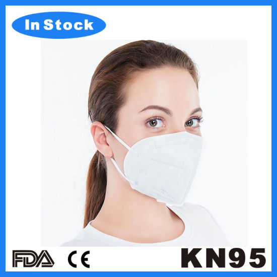 5 PCS  KN95 Respirator Face Mask - White (shipping from USA _ within 3 Business Days )