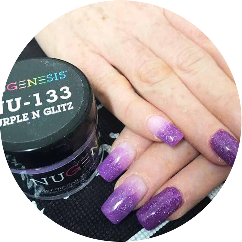 Nugenesis Dipping - NU 133 Purple N Glitz