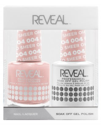 Reveal Duo Gel and Nail Lacquer Set - 004 Oh So Sheer