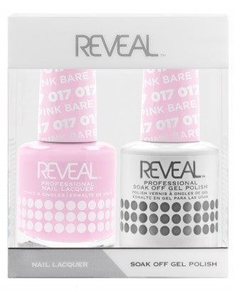 Reveal Duo Gel and Nail Lacquer Set - 017 Bare Pink