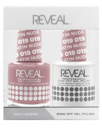 Reveal Duo Gel and Nail Lacquer Set - 019 Nude Satin