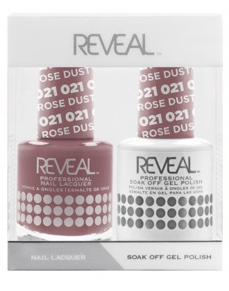 Reveal Duo Gel and Nail Lacquer Set - 021 Dusty Rose
