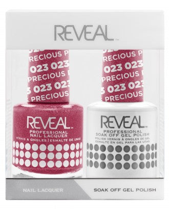 Reveal Duo Gel and Nail Lacquer Set - 023 Precious Petunias