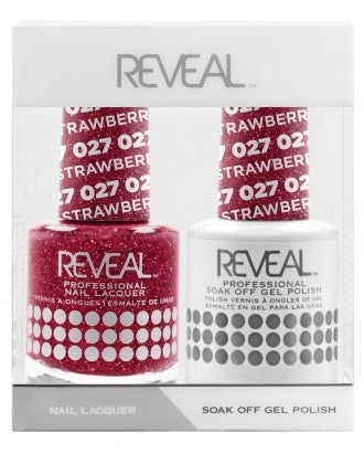Reveal Duo Gel and Nail Lacquer Set - 027 Strawberry Fizz