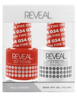 Reveal Duo Gel and Nail Lacquer Set - 034 Dragon Fire