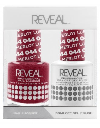 Reveal Duo Gel and Nail Lacquer Set - 044 Lush Merlot