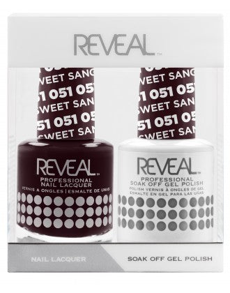 Reveal Duo Gel and Nail Lacquer Set - 051 Sweet Sangria