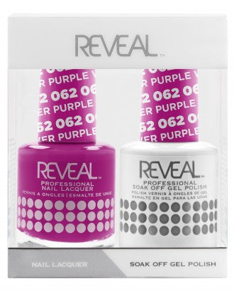 Reveal Duo Gel and Nail Lacquer Set - 062 Purple Wildflower