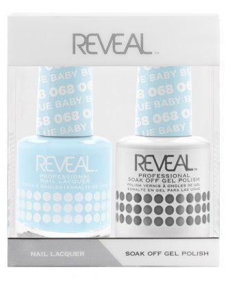 Reveal Duo Gel and Nail Lacquer Set - 068 Baby Blue