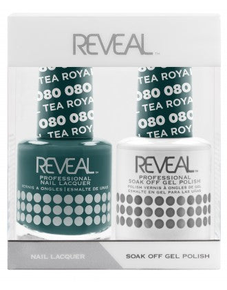 Reveal Duo Gel and Nail Lacquer Set - 080 Royal Teal