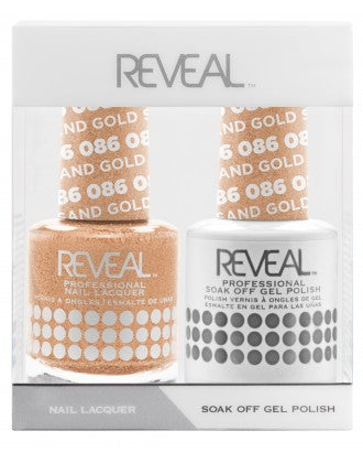 Reveal Duo Gel and Nail Lacquer Set - 086 Gold Sand