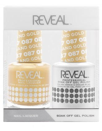Reveal Duo Gel and Nail Lacquer Set - 087 Dipped In Gold