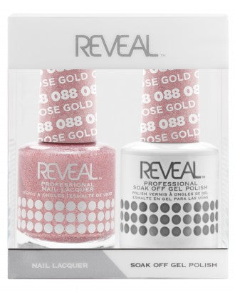 Reveal Duo Gel and Nail Lacquer Set - 088 Rose Gold Gaze