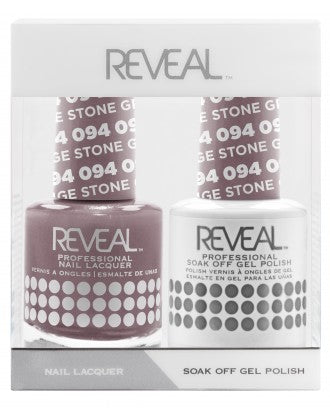 Reveal Duo Gel and Nail Lacquer Set - 095 Purple Ash